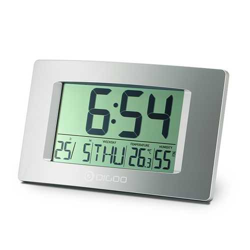 "Digoo DG-GC1 8.7"" Large LCD Screen Indoor Thermometer Hygrometer Digital Clock Wall Clock"