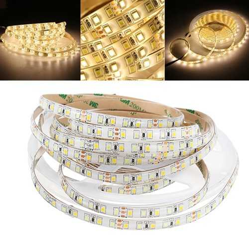 5M 4Pins Waterproof SMD2835 Double Color Warm White and Pure White LED Strip Light DC12V