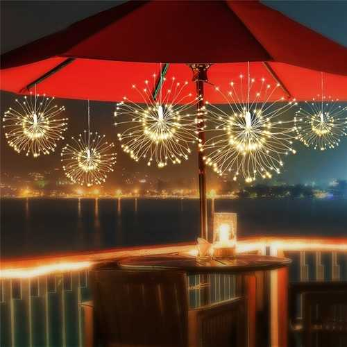 ARILUX Solar Power 200LED 8 Modes IP65 DIY Firework Starburst Fairy String Christmas Holiday Light