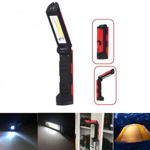 XANES YH-910 COB Front & Side Lights 3Modes Multifunctional Portable COB LED Magnetic Folding Hook Work Light LED Flashlight